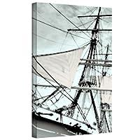 アートウォール Sailing on India III ギャラリー ラップ キャンバス アートワーク リンダ・パーカー作、60.96×91.44cm