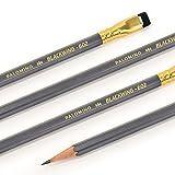パロミノ ブラックウィング 鉛筆 602 (B) 12本 1ダース 【PALOMINO BLACK WING 602】消しゴム付き鉛筆