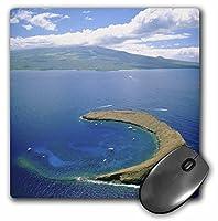 3drose LLC 8x 8x 0.25インチマウスパッド、Molokini島マウイハワイDouglas Peebles (MP 89636_ 1)