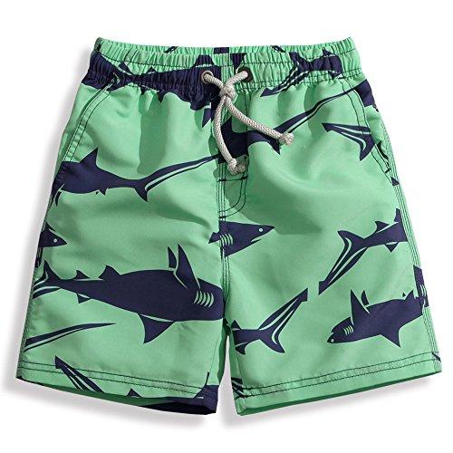 水着キッズ子供男の子サーフパンツ海パンボートショーツls17010S/110サメ柄