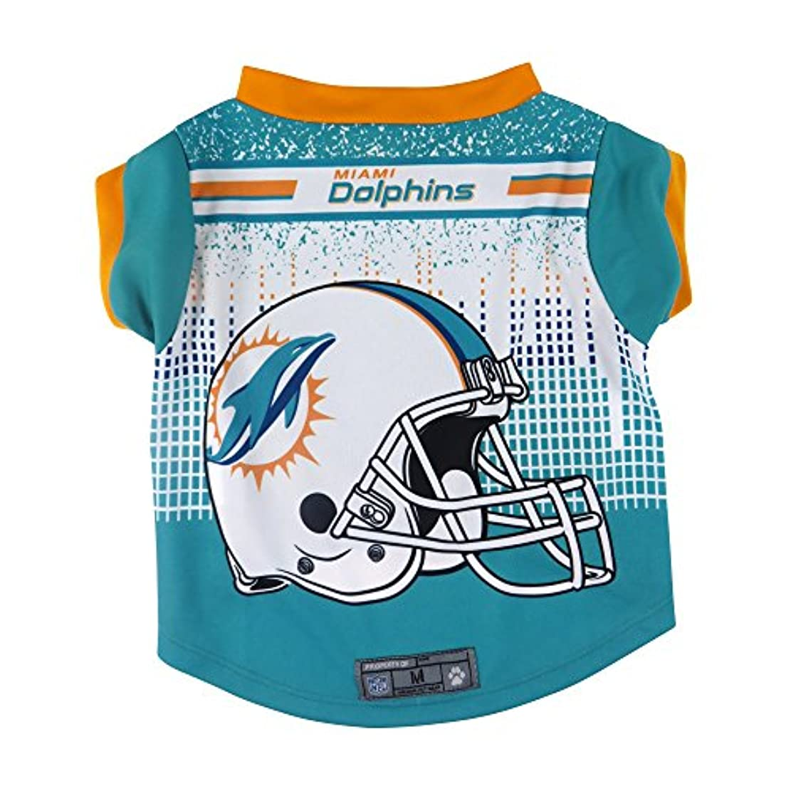 ふさわしい吐き出すモデレータNFL Miami DolphinsペットパフォーマンスTシャツ、大