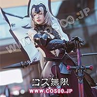 Fate/Grand Order FGO風 黑 ジャンヌ・ダルク オルタ 全身鎧+劍+旗風 コスプレ衣装 (男L)