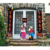 Halloween Decorations Door Banners for Trick or Treat Home Office Decor 3pcs - Ready to Hang