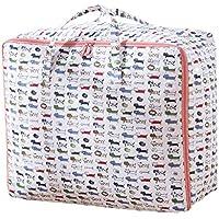 2PCSオックスフォード布の貯蔵袋漫画の動物のパターン高品質の旅行の主催者のキルトの服移動仕上げの荷物の収納袋2個/セット (サイズ さいず : 70 * 50 * 30cm)