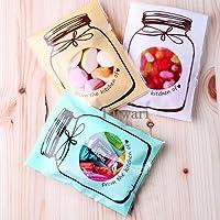 【Fuwari】お菓子 クッキー チョコレート ラッピング 300枚 包装袋 小分け ホワイトデー 義理チョコ 友チョコ プレゼント などに ( ホワイト、ミント、ベージュMix, M)