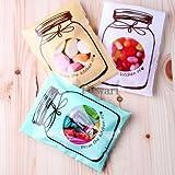 【Fuwari】 お菓子 クッキー チョコレート ラッピング 300枚 包装袋 小分け バレンタイン ホワイトデー 義理チョコ 友チョコ プレゼント などに ( ホワイト、ミント、ベージュMix, M)