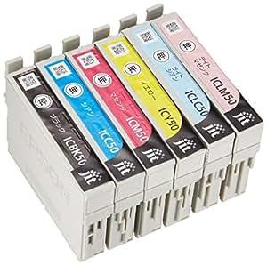 ジット EPSON(エプソン)  IC6CL50 6色セット対応 リサイクル インクカートリッジ JIT-NE506PZN(FFP・封筒パッケージ)