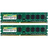 シリコンパワー デスクトップPC用メモリ 1.35V (低電圧) - 1.5V 両対応 240Pin DDR3L-1600 PC3L-12800 4GB×2枚 永久保証 SP008GLLTU160N22