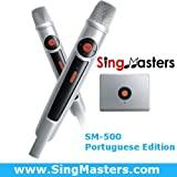 SingMasters Magic Sing Portuguese Karaoke Player,1000+ Portuguese Songs,Dual wireless Microphones,YouTube Compatible,HDMI,Song recording,Karaoke Machine