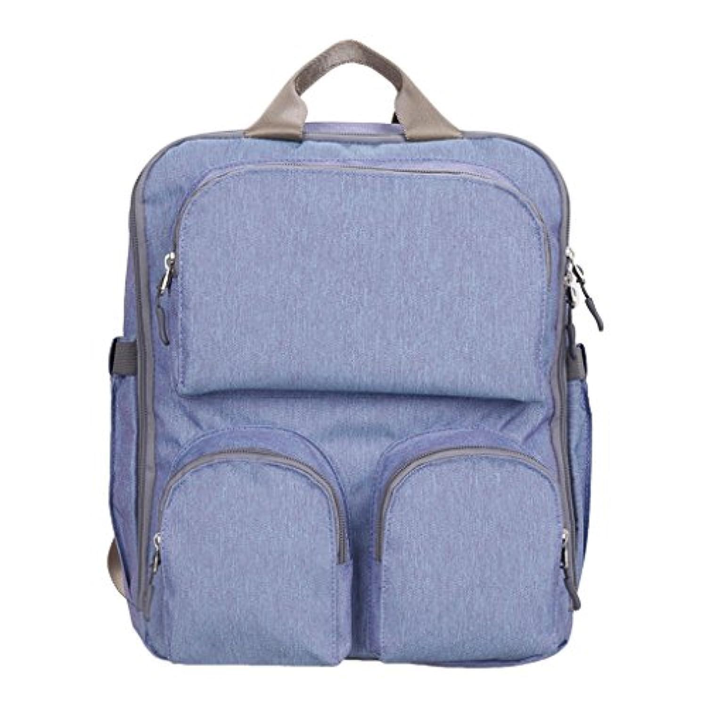 Lovoski マザーズ 看護 バッグ 大容量 ベビー おむつ おむつバッグ バックパック  シンプル  防水  ショルダーバッグ 全2色 - 青紫