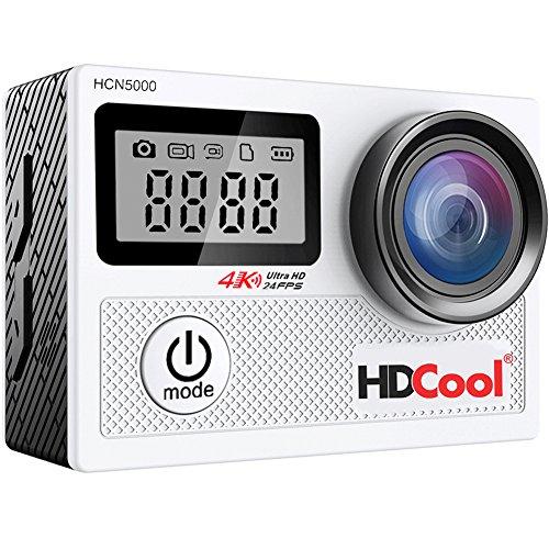 HDCool4K アクションカメラ WIFI搭載 スポーツカメラ20MP1080フルHD 170度の超広角レンズ 30M防水 0.96インチのフロントスクリーンが付いた2.0インチLCDディスプレイを持ち、1050mAh充電式バッテリ2つ付き HCN5000ウエアラブルカメラはバイク/自転車/車などに取り付け可能