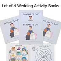 Saying I Do, A Wedding Activity Sticker Book (Lot of 4 Books)