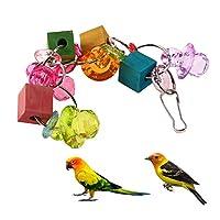 Demiawaking 鳥 おもちゃ 麻縄ロープ 噛む玩具 鳥 インコ 吊下げタイプおもちゃ 明るい色