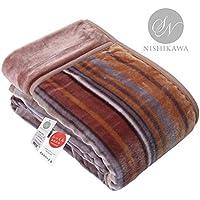 昭和西川 毛布 ブラウン 140X200㎝ 暖ふわ2枚合わせ毛布 快眠のベストマッチ 肌触りなめらか毛布 2230554450206