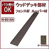 ウッドデッキ 人工木材 人工木 部材 樹脂ウッドデッキ フェンス材 ルーバー材 72×11×2000mm【H-B018A】【2色選択可】 (ダークブラウン)