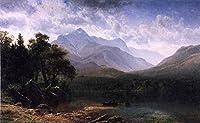 手書き-キャンバスの油絵 - 美術大学の先生直筆 - Mount Washington Albert Bierstadt 絵画 洋画 複製画 ウォールアートデコレーション -サイズ10