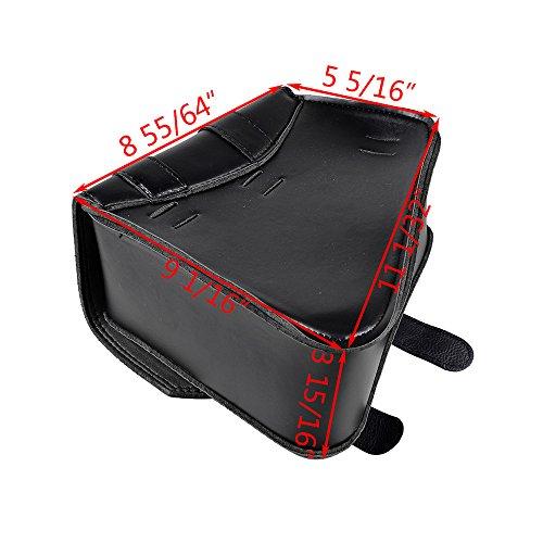 For Harley Sportster xl883xl1200ブラックPUレザー左スイングアームサドルバッグ