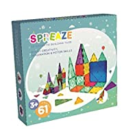 3D Magnetic Building Blocks by Spreaze 60pcs Magnet Building Tiles Construction Playboards 100% Safe Strong Clear Colorful Magnet Construction Tiles for Kids Perfect Toys for Toddlers and Pre-scho [並行輸入品]