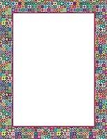 """Geographicsアートモザイクレターヘッド、8.5"""" x11、100/パック(48447)"""