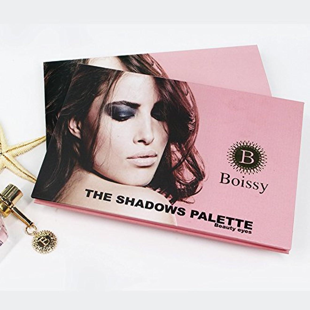 櫛旅客アルミニウムAkane アイシャドウパレット BOISSY ファッション 可愛い 魅力的 キラキラ 人気 ピンク 綺麗 長持ち おしゃれ 防水 チャーム 日常 持ち便利 Eye Shadow (24色)