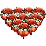 D DOLITY 風船 バルーン バスケットボール お祝い 部屋飾り 好意 キッズギフト 子供 プレゼント アルミ製 10個セット