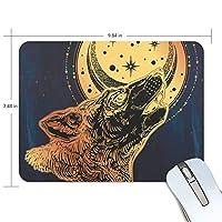 ユキオ(UKIO) マウスパッド おしゃれ 防水 滑り止め かわいい 使いやすい 北欧 オオカミ 月 個性 女性 リストレスト マウス PCアクセサリ 男性