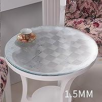 PVCテーブルクロス防水ソフトガラステーブルマットテーブルクロスクリスタルプレート ( サイズ さいず : 90*90センチメートル )