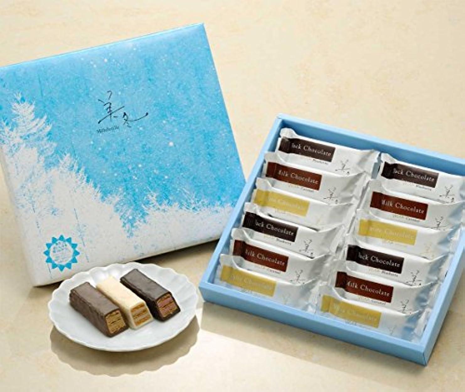 安全なシソーラス白い恋人の石屋製菓の 美冬(ミルフィーユ)12個入り×8個