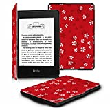 Fintie for Kindle Paperwhite ケース 超薄 軽量 保護カバー オートスリープ機能付き (Kindle Paperwhite 第5世代、第6世代、第7世代、マンガモデル 専用)【Kindle Paperwhite Newモデル 第10世代 2018に適応できない】(花柄x桜(紅))