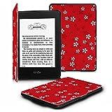 Fintie Kindle Paperwhite ケース 超薄 軽量 保護カバー オートスリープ機能付き (2016 NEW-Kindle Paperwhiteマンガモデル と 2012, 2013, 2015バージョン適応)(花柄x桜(紅))