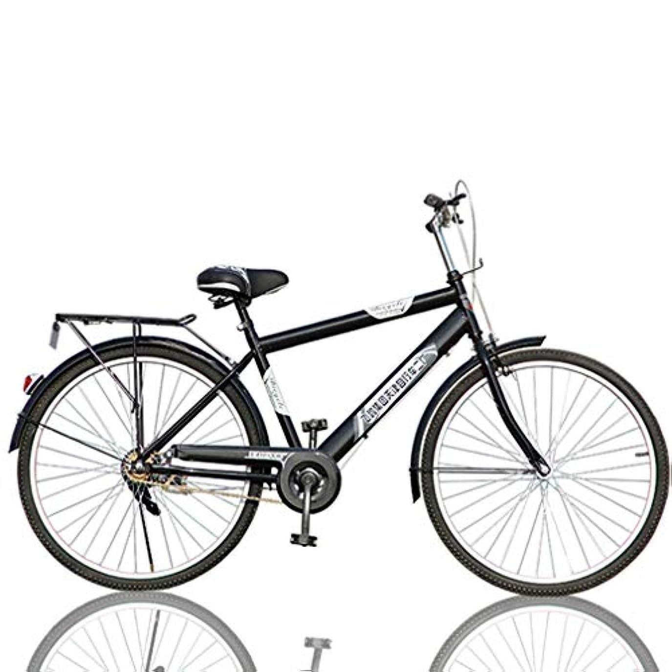 お肉旧正月絶縁するマウンテンバイクロードバイク通勤パトロールバイクアウトドアビンテージクラシック軽量ポータブル自転車26インチバックシート