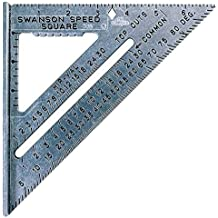 Swanson Tool S0101 7-inch Speed Square Layout Tool with Blue Book