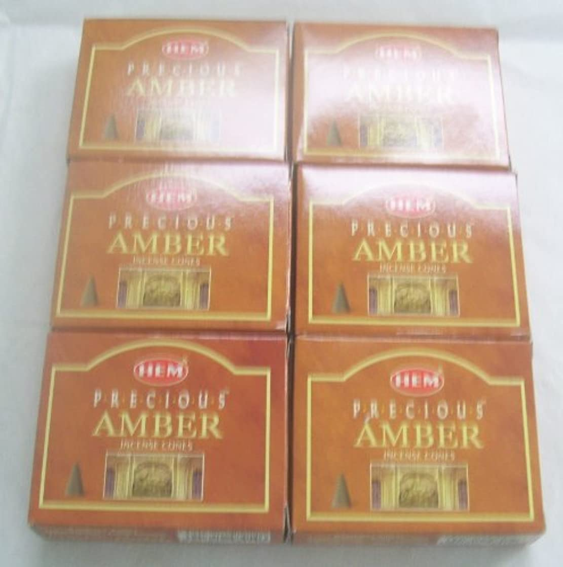 スーツケース海洋許可するHem Precious Amber Incense Cones、6パックの10 Cones = 60 Cones