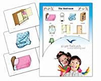 Bedroom Flashcards for Language Learning in English - 英語フラッシュカード、絵カード、子供, 寝室