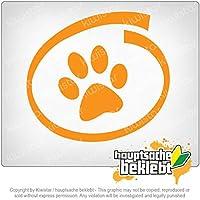 犬/猫の内部 Dog / cat inside 11cm x 10cm 15色 - ネオン+クロム! ステッカービニールオートバイ