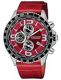[エンジェルクローバー]Angel Clover 腕時計 MONDO レッド文字盤 ワールドタイマー クロノグラフ MO44SRE-RE メンズ