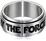 (スター・ウォーズジュエリー) Star Wars Jewelry 「May The Force Be with You」と書かれた指輪 ステンレススチール製 スピナーリング メンズ