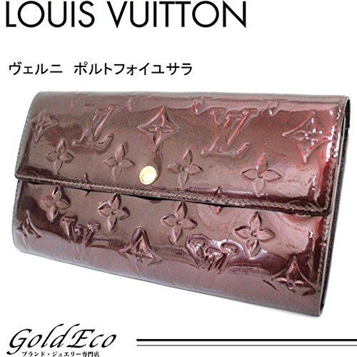 LOUIS VUITTON (ルイヴィトン) ヴェルニ ポルトフォイユサラ M91521 ルージュフォーヴィスト パープル 紫 二つ折り長財布 LOUIS VUITTON (ルイヴィトン)(中古)
