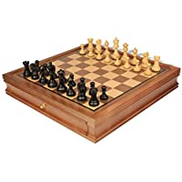 Parker Staunton Chess Set in Ebonized Boxwood with Walnut Chess Case - 3.25 King by The Chess Store [並行輸入品]