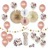 Click It Home Designs ローズゴールドパーティーデコレーション 50個セット パーティー ブライダル ベビーシャワー 卒業式 結婚式 紙吹雪バルーン 新年用