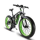 Cyrusher XF800 ファットバイク 電動アシスト自転車 17×26インチ マウンテンバイク1000W 48V13An アルミフレーム FATBIKE迫力の極太タイヤ スノーホイール(グリーン)