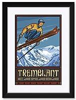 NorthwestアートMall TremblantカナダスキージャンパーFramedアートプリントbyポール・A Lanquist。 12x18 / 18x24 inch PAL-2227 NFMF-EB