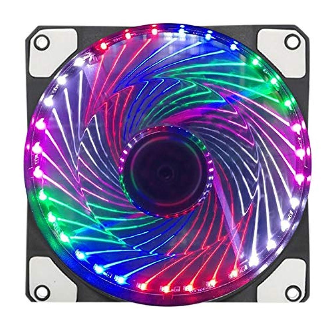 カレッジ無効壊すLOCKYOU 超静音PCケースファン 120mm 冷却ファン スーパーサイレント コンピュータLEDハイエアフロークーラーファン 1/2個