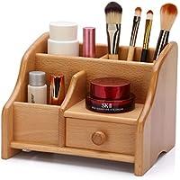 WTL かご?バスケット 木製引き出しタイプ化粧品収納ボックスドレッシングテーブルデスクトップ化粧品収納ボックスbathroom Shelf