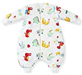 Fairy Baby Detachable Sleeves approx 3.5TogコットンSleeping Bag withフィート S(fit baby less 31.5in,6-12 months) US-S098-02