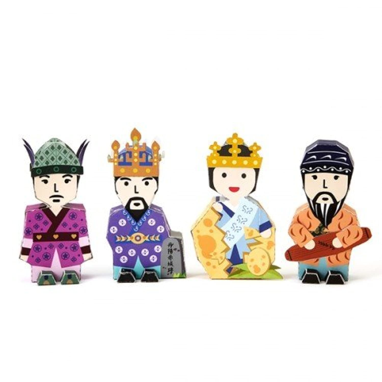 Korea Character Papertoy - Park Hyeok Heose & The code of silla chivaly & Ureuk & King Jinheung