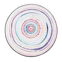 JIAJUAN ラウンドカーペット 円形 範囲 ラグ コンテンポラリー 多色 幾何学的な 設計 リビングルーム 寝室 ヨガ テント 滑り止め じゅうたん マット (Color : D, Size : 100cm)