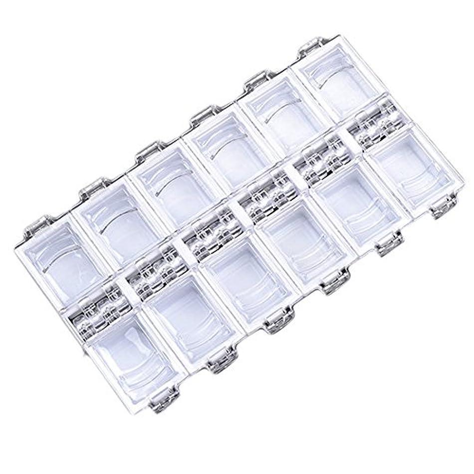 より良い肌寒い起業家12グリッドファッション独立アクリルネイル装飾収納ボックス (WH)