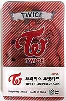 TWICE トワイス - TRANSPARENT PHOTO CARDS 透明フォトカード 25pcs [韓国製]