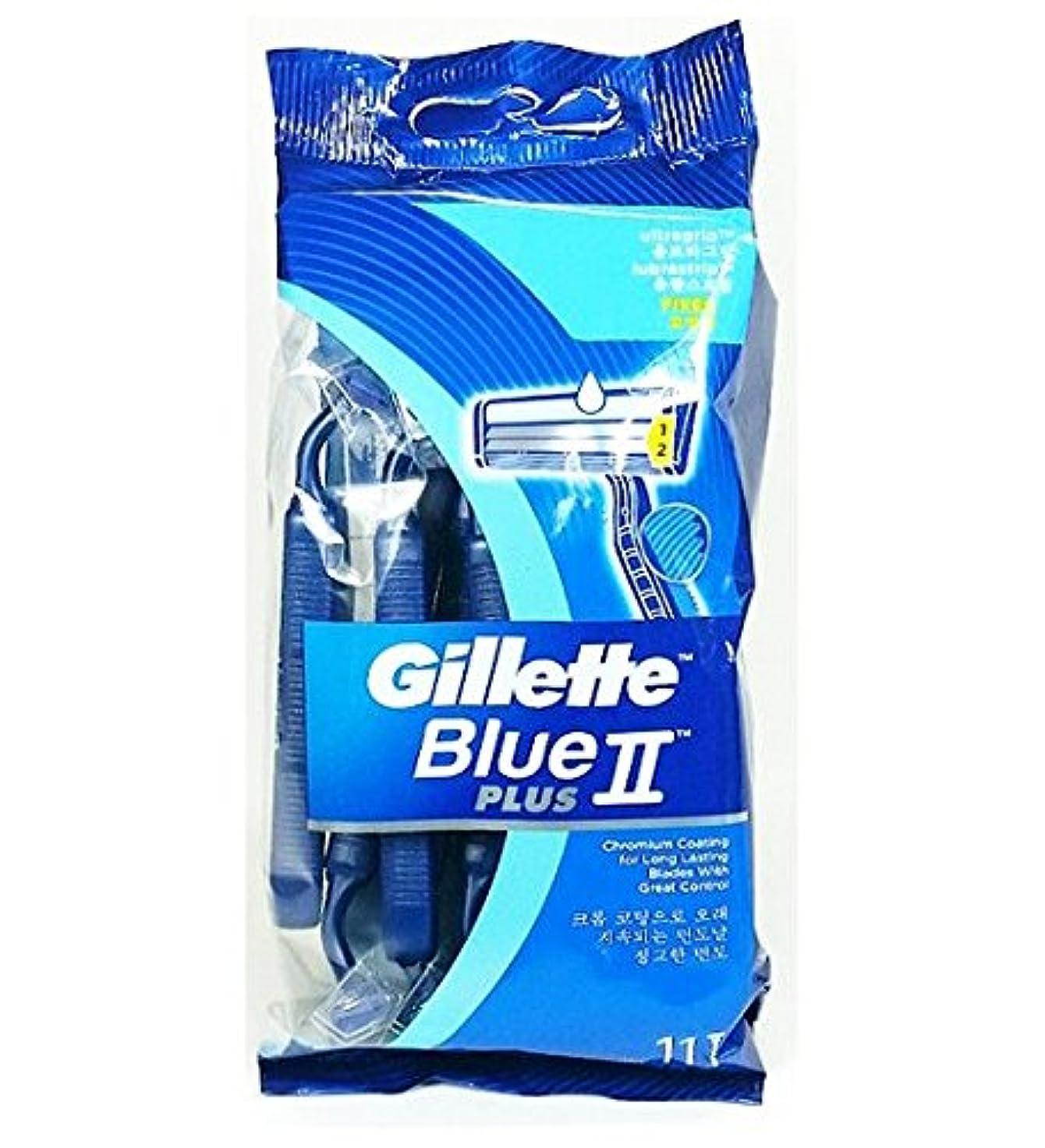 エキスパートさびたクラッチ[ジレット]ジレットブルーII使い捨てシェービングかみそり(11個) Gillette Blue II Disposable Shaving Razors (11 Pieces) [並行輸入品]
